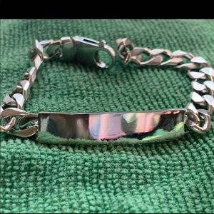 Jewelry - Italy Sold Sterling Silver 925 ID Bracelet 32g